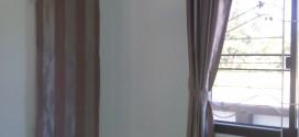 ม่านพับ+ ม่านตาไก่ผ้าลายทางดรีมเอ้าท์กันแสงยูวี ที่บ้านคุณพิชัย ชลบุรี